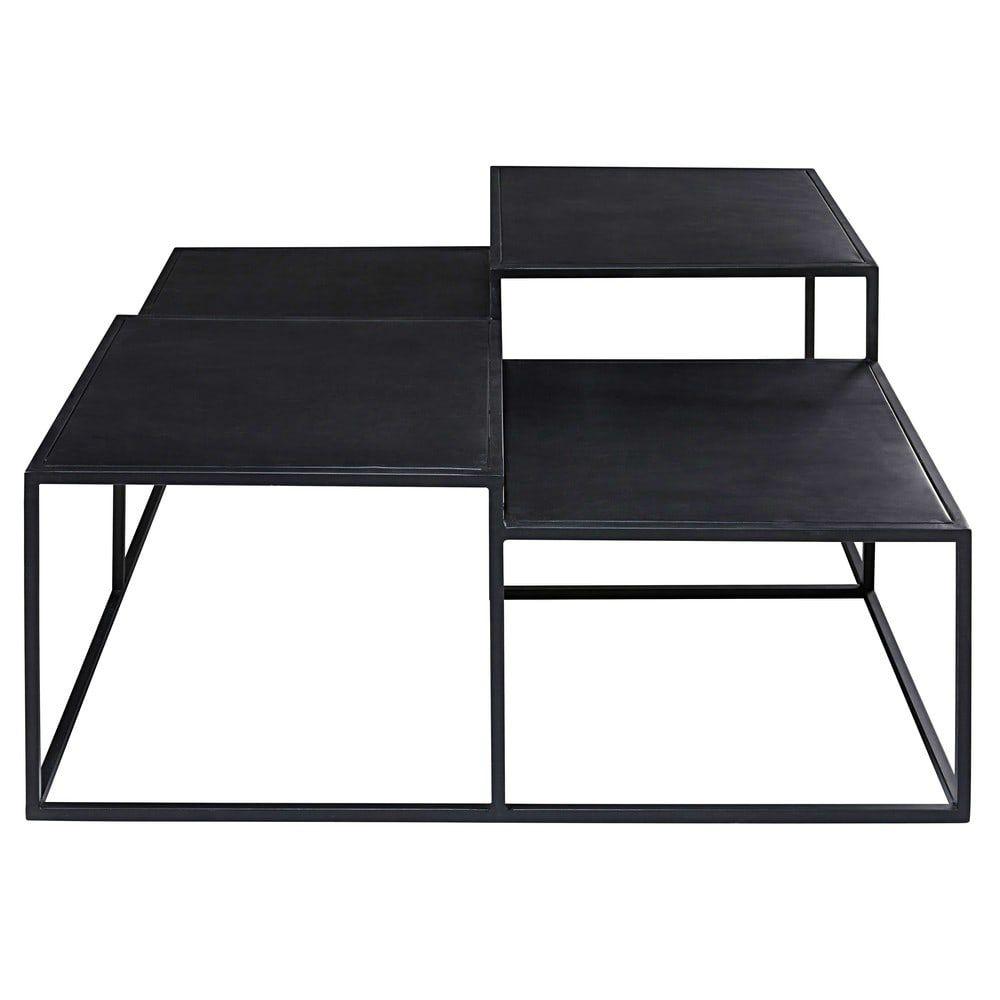 4 Noir Basse En 2019New Appartment Plateaux Métal Table pqLUGzMSV