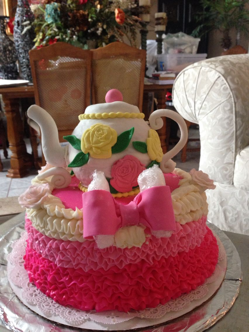 Teapot cake Brittany's creation
