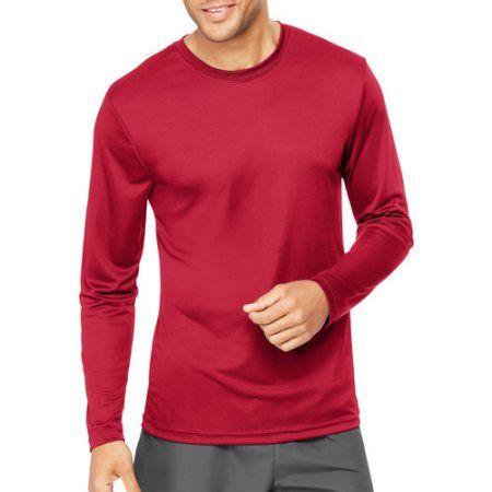 Hanes Sport Big Mens Cool DRI Performance Long Sleeve Tshirt (50+ UPF), Men's, Size: 2XL, Red