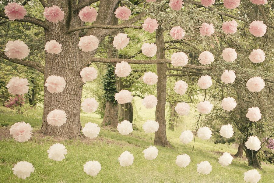#poms, #ombre  Photography: The Wedding Artist's Collective - theweddingac.com  Read More: http://www.stylemepretty.com/2013/08/13/pennsylvania-vintage-wedding-from-the-wedding-artists-collective/