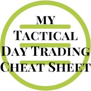 My Tactical Day Trading Cheat Sheet  Stocks