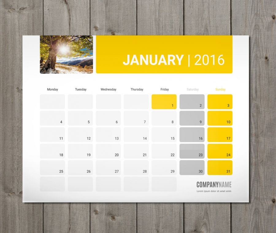 monthly desk and wall planner template design pm w5a calender