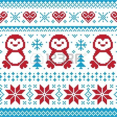 Photo of Weihnachts- und Winterstrickmuster, karten – skandinavischer Pulloverstil