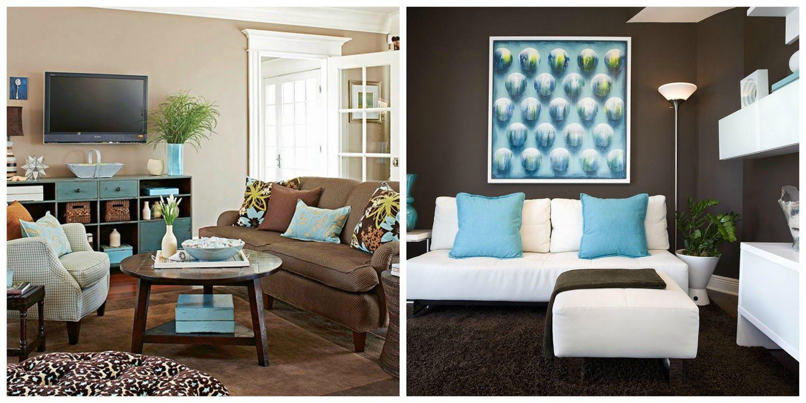 Marrom Para Sala De Estar ~ sala marrom e azul  Pesquisa Google  Sala de Estar  Pinterest