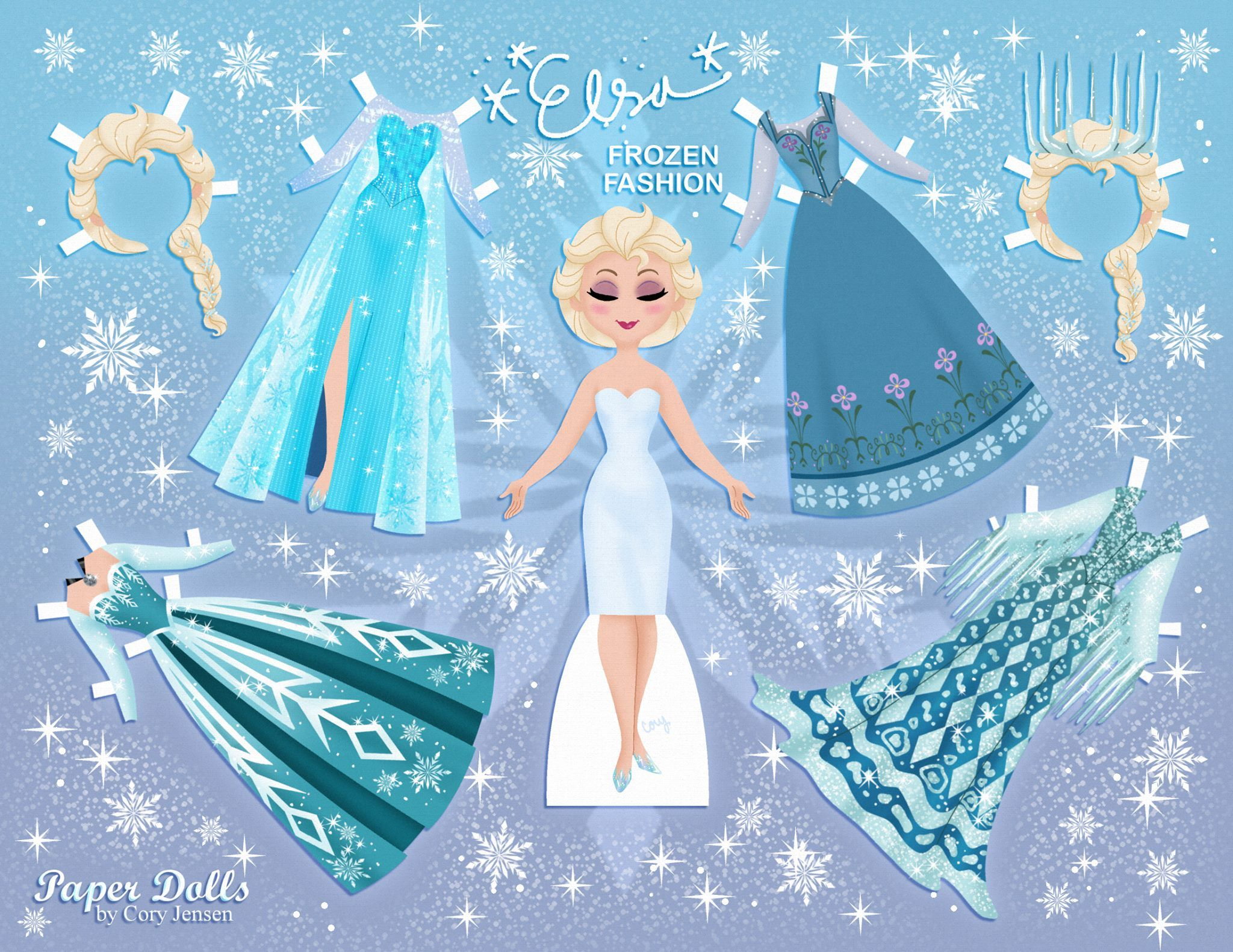 Elsa Disney S Frozen Paper Dolls Skgaleana Paper Dolls