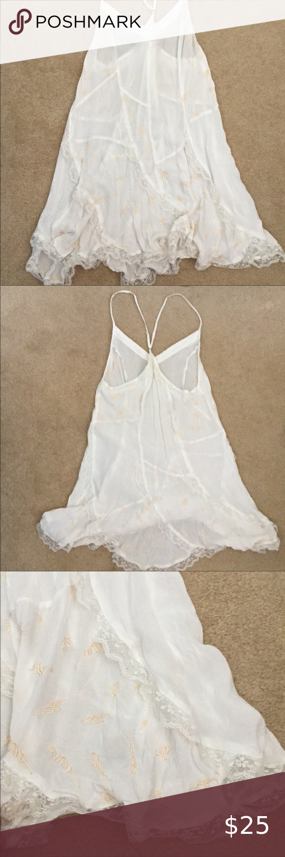 Free People White Embroidered Lace Slip Dress Lace Slip Dress Lace Slip Slip Dress [ 1740 x 580 Pixel ]