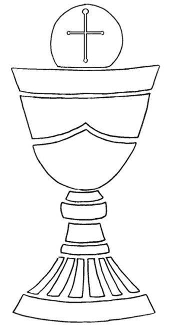 First Communion Chalice Template Printable Cakes Pinterest