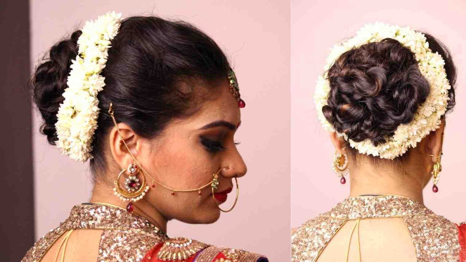 messy bun hairstyle for indian wedding | hair stylist and