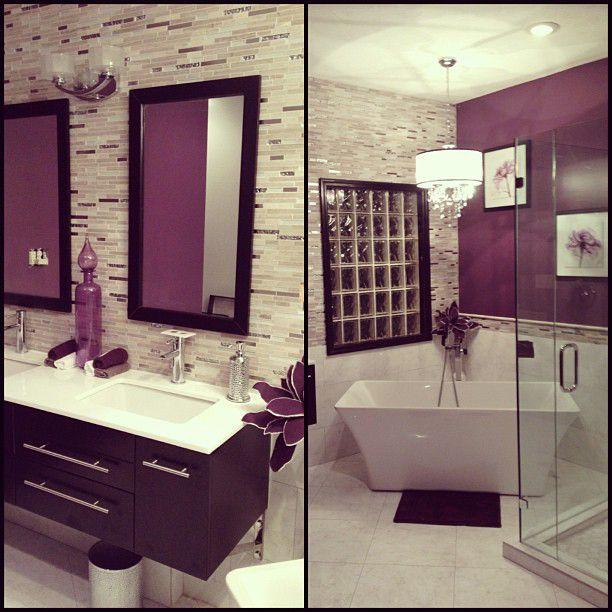 A posh bathroom done by a fan near The Tile Shop in Dayton ...