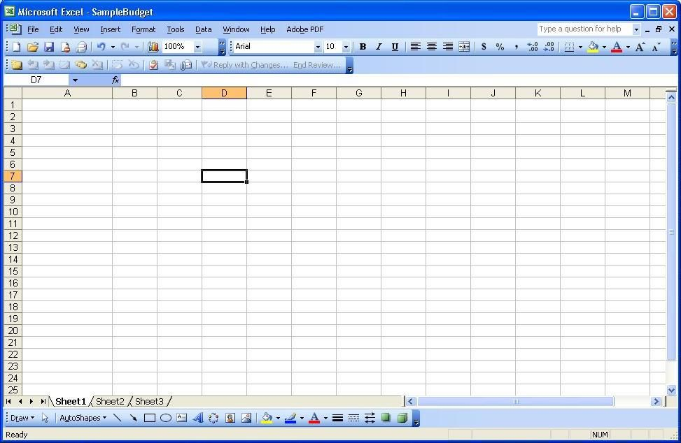 Using Excel Part 1 Tracking Spending Budgeting