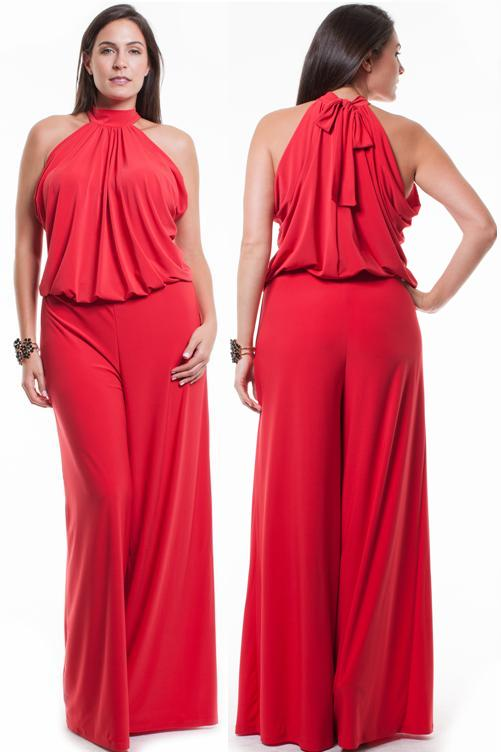 df7df8ba5434 SUPER SEXY PLUS SIZE HALTER JUMPSUIT Sleeveless Sexy Wide Leg Pants Ro – Butterfly  Boutique