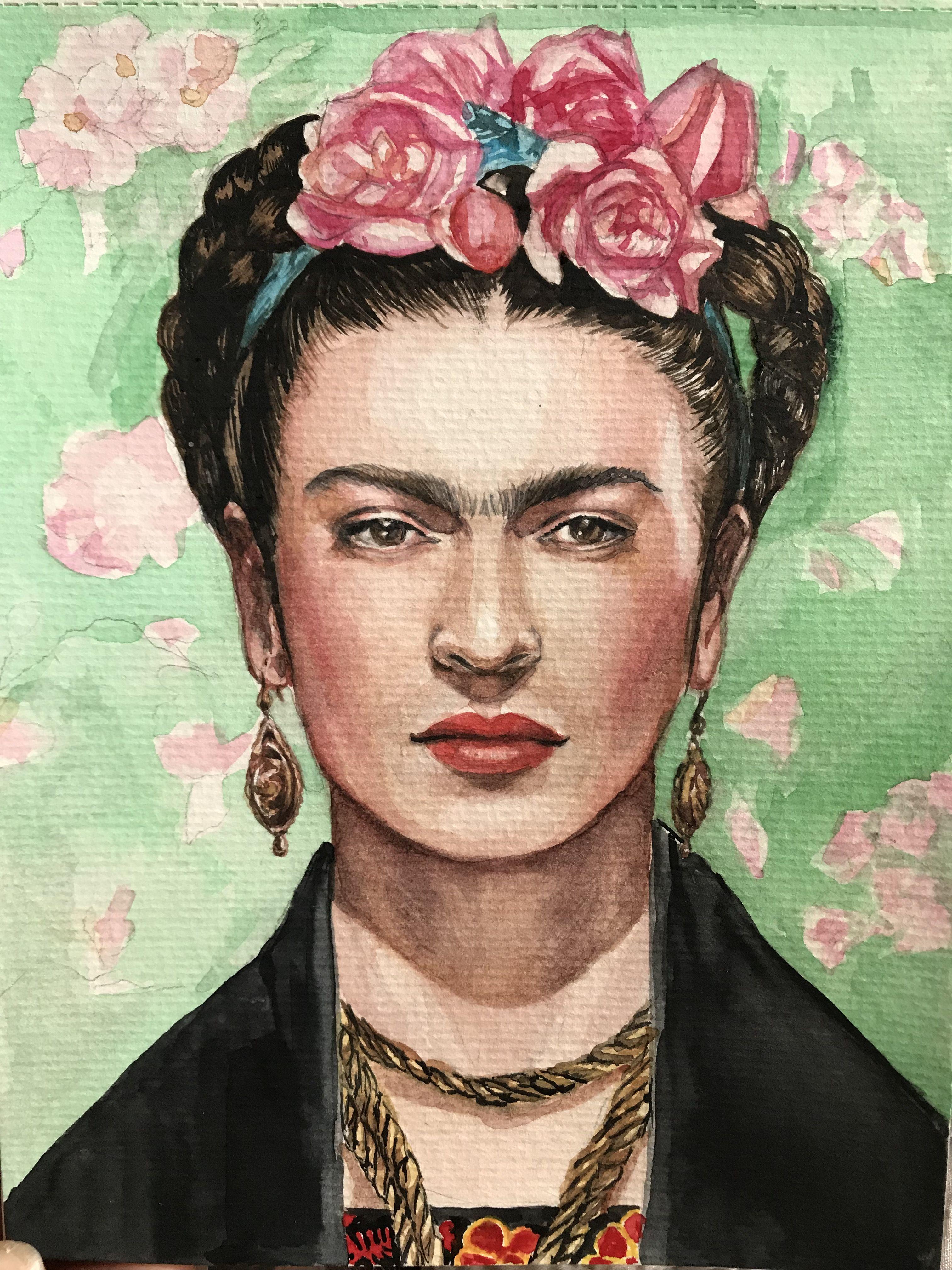 Watercolor Frida Kahlo in 2021   Watercolor portraits
