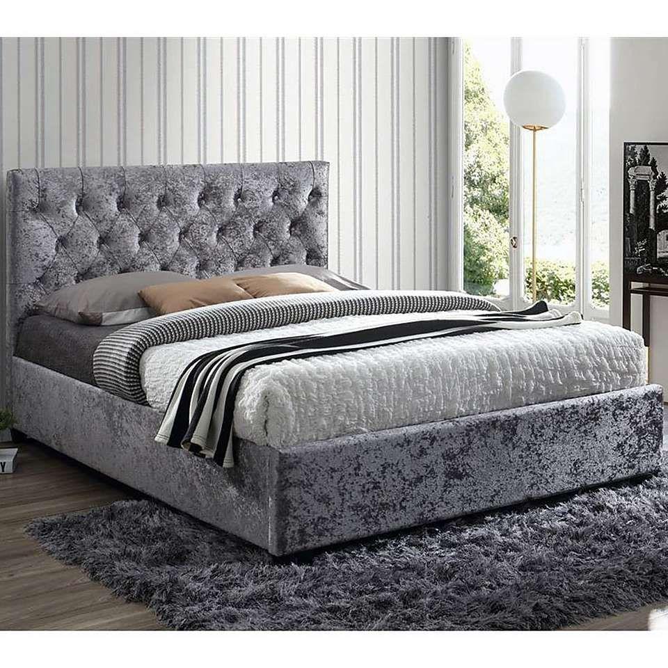 Cologne Crushed Velvet Bed Frame Crushed velvet bed