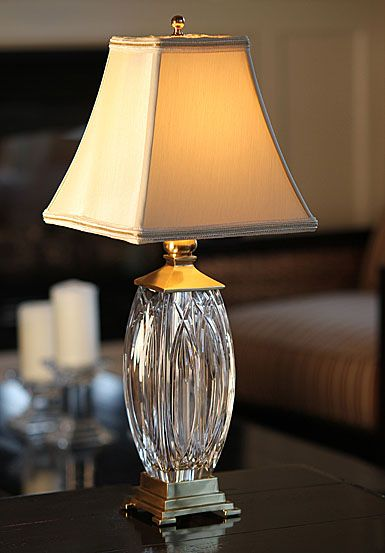 Waterford Crystal Finn 19 Quot Crystal Accent Lamp Lamp