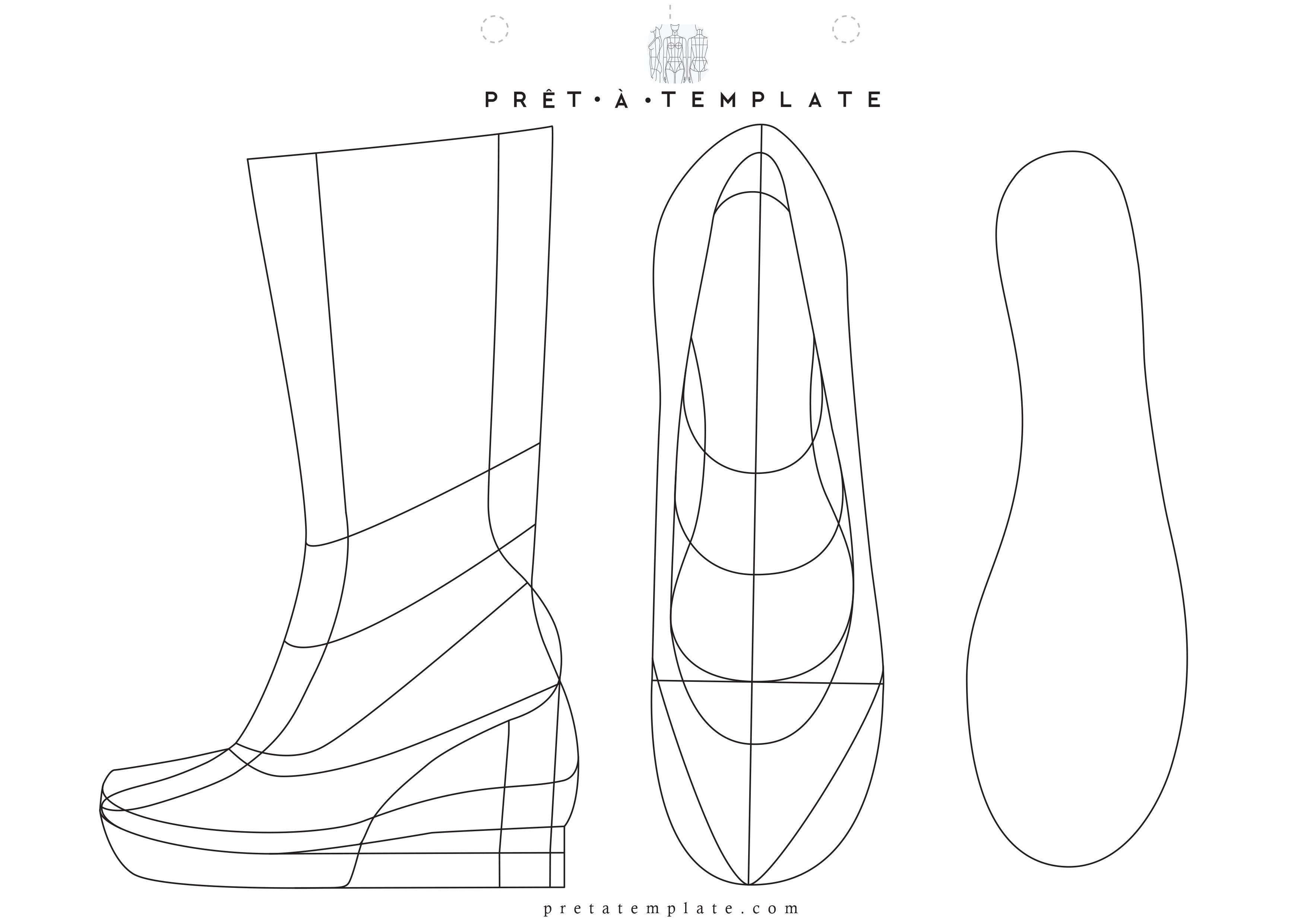 Shoe figure fashion template d i y your own fashion sketchbook shoe figure fashion template d i y your own fashion sketchbook maxwellsz