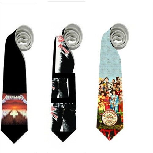 Necktie Metalica rolling stones the beatles sgt by lilunder