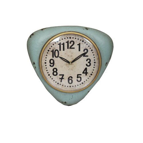 Duprey Wall Clock Brambly Cottage Colour: Blue