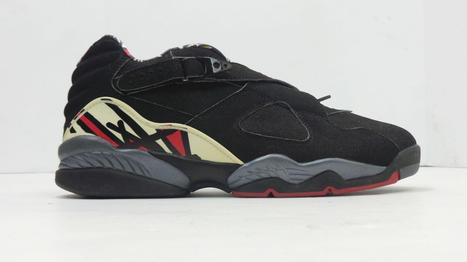 Men's Size 8 Nike Air Jordan 8 Retro Low Black True Red-Del Sol 306157 061