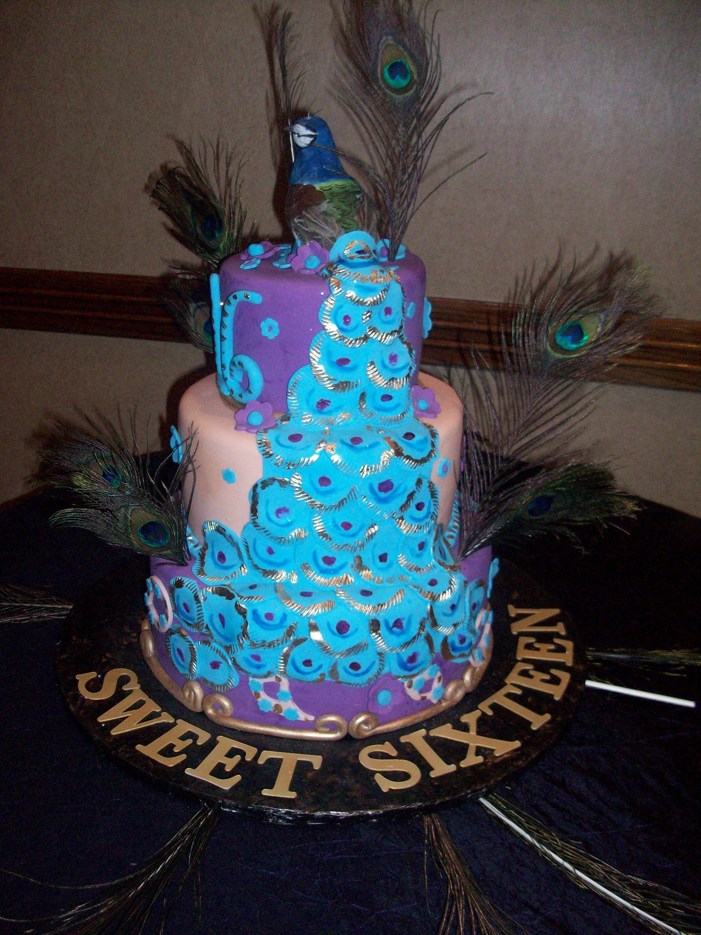 Calumet Bakery Peacock sweet 16 | Sweet 16/ Quinceanera ... Quinceanera Peacock Cake
