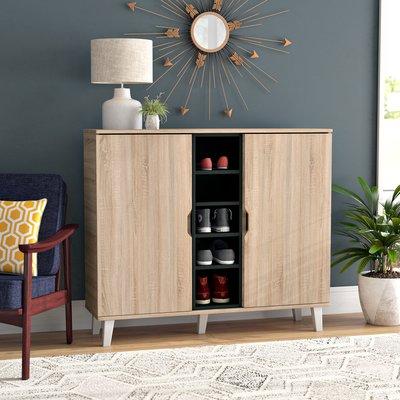 Rebrilliant Belote 38 Pair Shoe Storage Cabinet Wayfair In 2020 Shoe Storage Cabinet Shoe Storage Furniture