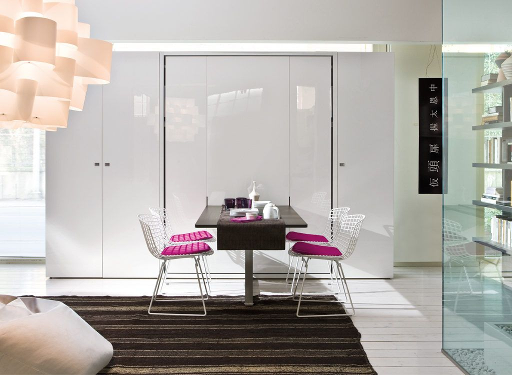 Ulisse Dining Contemporary Murphy Beds Wall Bed Systems Modern Murphy Beds Murphy bed with dining table