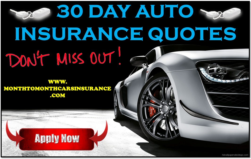 30 day car insurance quote for young drivers Car