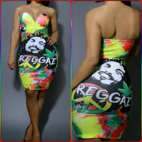 Image of Plus size Colorful Bob Marley dress | fun clothes ...