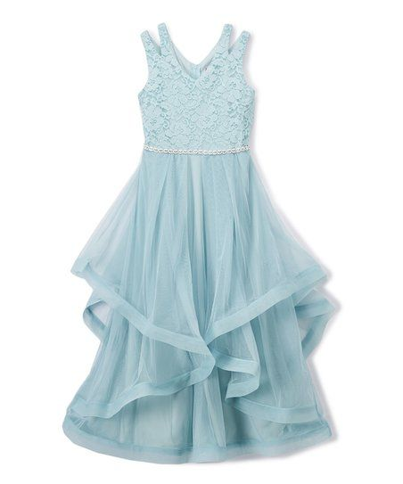 6ec92bc69f7 Speechless Ice Blue Maxi Dress - Girls | zulily | KIDS FASHION ...