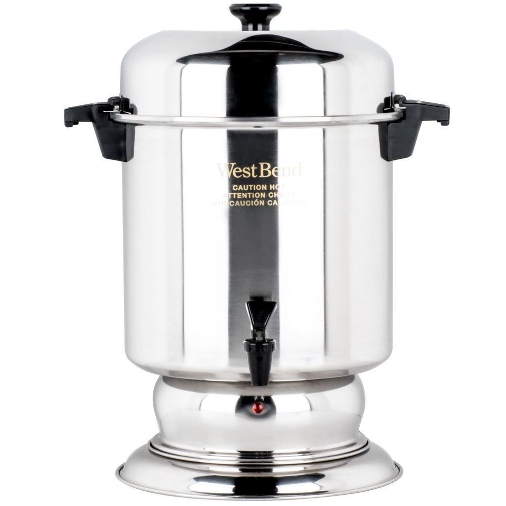 West Bend K1355a 55 Cup 2 2 Gallon Stainless Steel Coffee Urn Coffee Urn Stainless Steel Coffee Coffee Maker