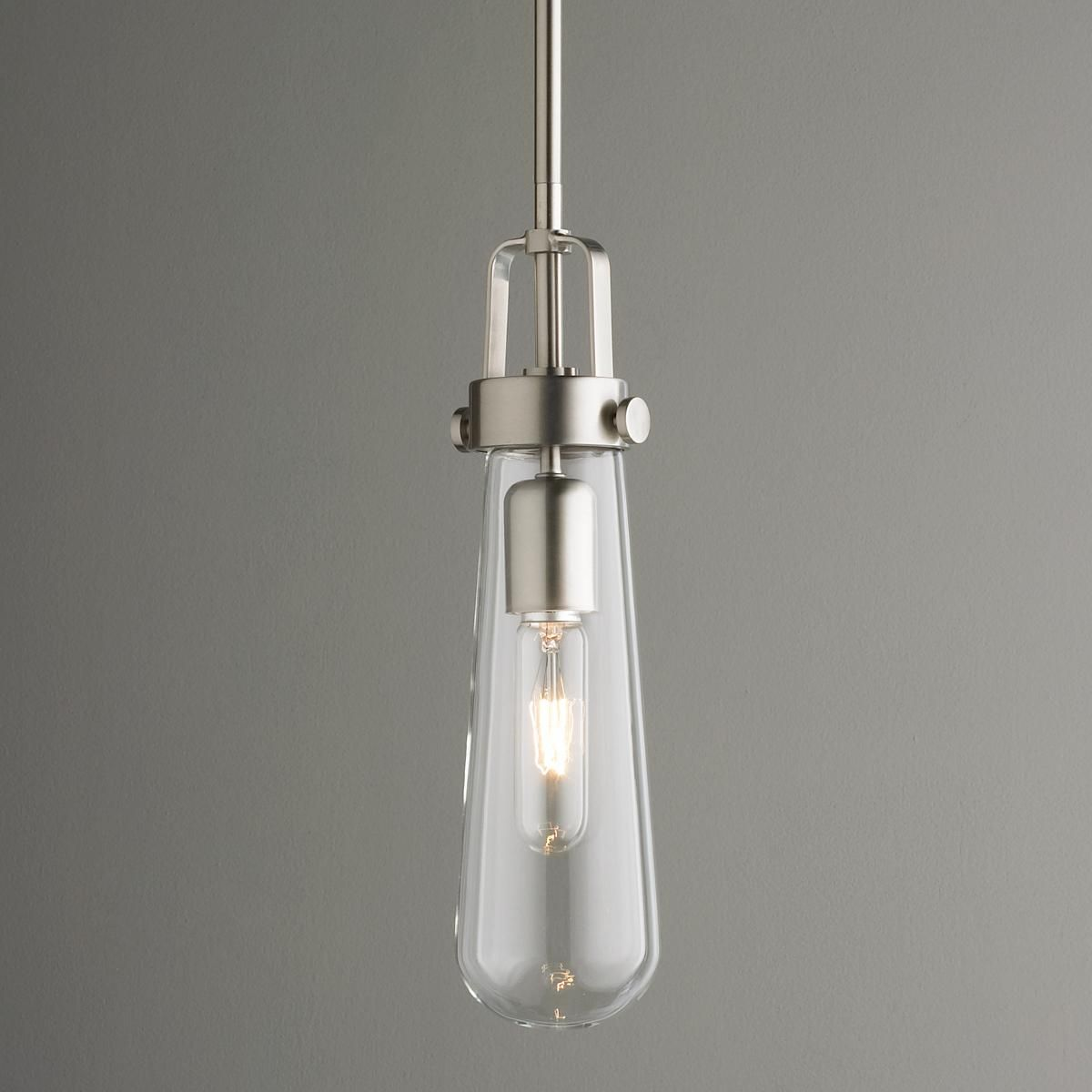 Clear glass vial pendant light blending modern aesthetic with clear glass vial pendant light blending modern aesthetic with industrial chic design this hanging aloadofball Image collections