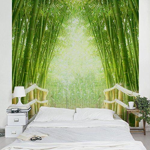 Bambus Tapete Vliestapete Bamboo Way Fototapete Bambus Quadrat Tapeten Bambus Tapete Tapeten Kaufen