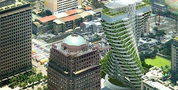 Tour cologique adn taiwan h tels paradisiaques construction cologique adn et immeuble - Immeuble ecologique ...