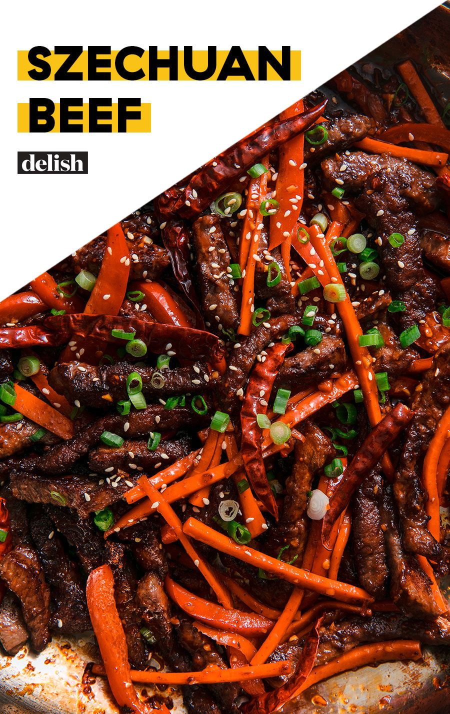 Szechuan Beef Brings The Heat And The Sweet Recipe Chinese Beef Recipes Szechuan Beef Spicy Beef