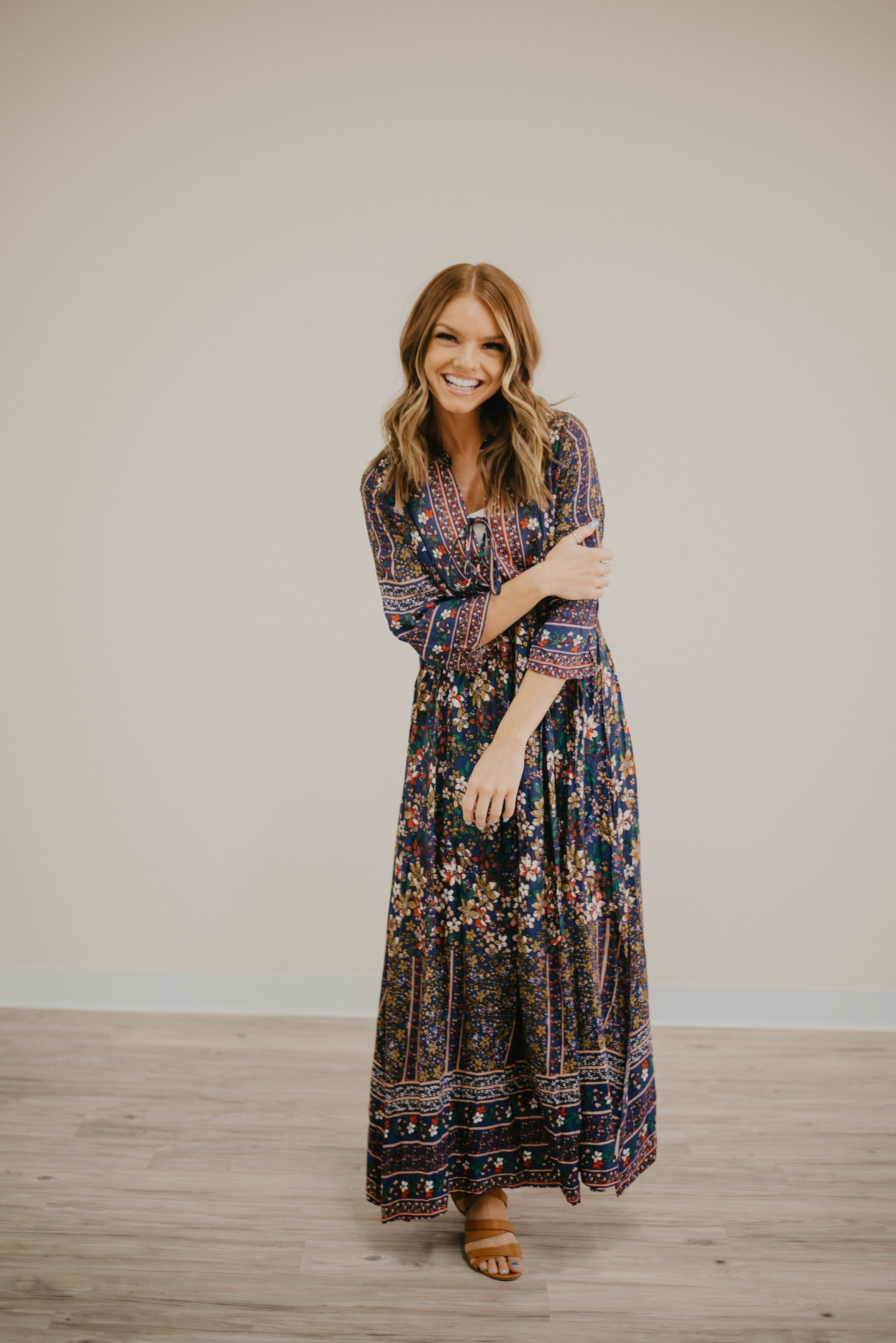 f8858fbc80 The boho floral maxi in navy in 2019 | Clothes | Fashion, Floral ...