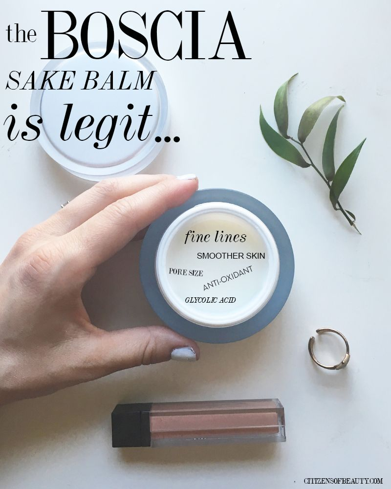 Boscia Sake Balm Moisturizer Skincare Review For A Good Base