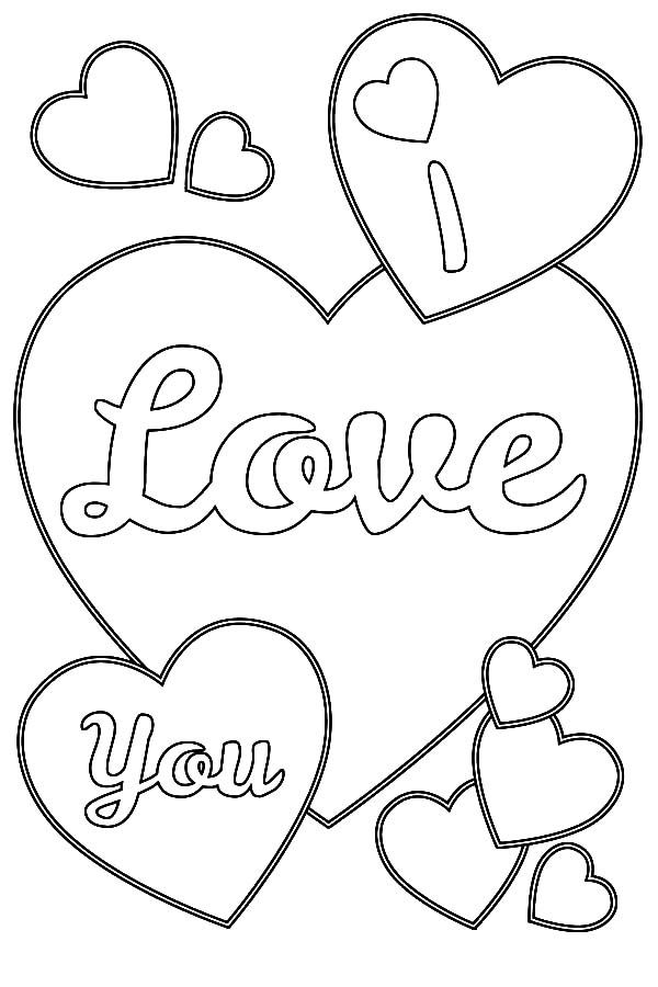 i love you coloring page coloring pages Pinterest