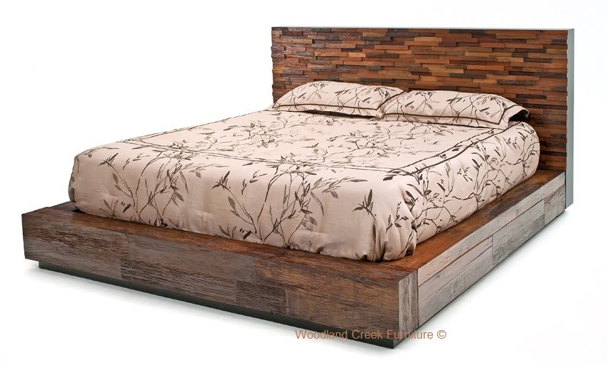 A Wooden Bed Creates A Warm Atmosphere Wooden Platform Bed
