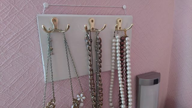 Easy Diy Necklace Holder Idea Organizer Hanger D I Y B L O G