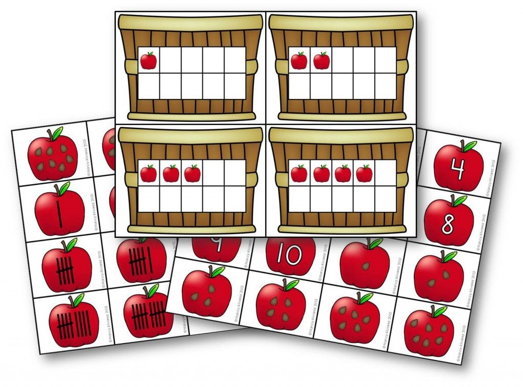 Apple Freebie! Bushel of Numbers math activity from