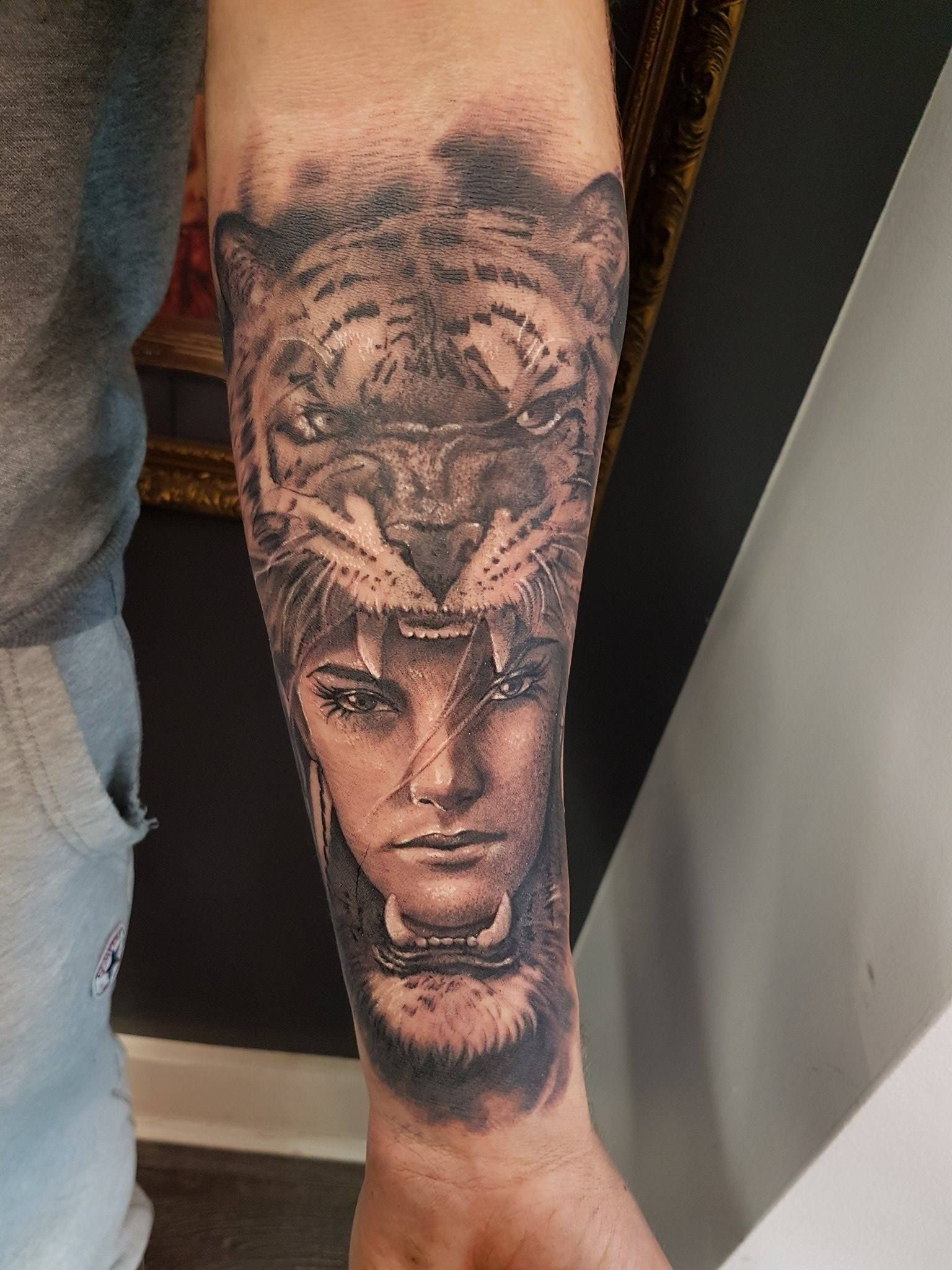 Hood Tattoos : tattoos, Tiger, Tattoo, Limited, Availability, Newtestamenttattoostudio, Tattoos,, Studio,, Salvation