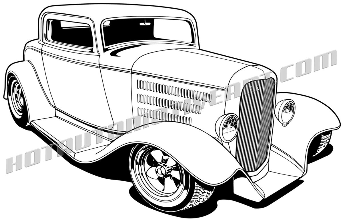 pix for hot rod trucks clipart dap of drawings of cars rods 4 1970 Chevelle SS pix for gt hot rod trucks clipart car drawings cartoon drawings 1932 ford
