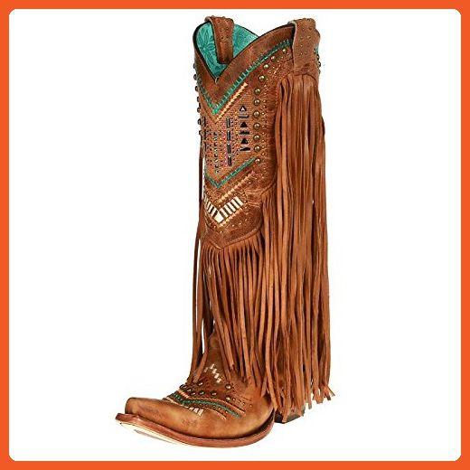 corral aztec fringe boots