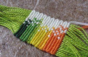Rainbow Splash Alpha Bracelet WIP by chibi-shishi