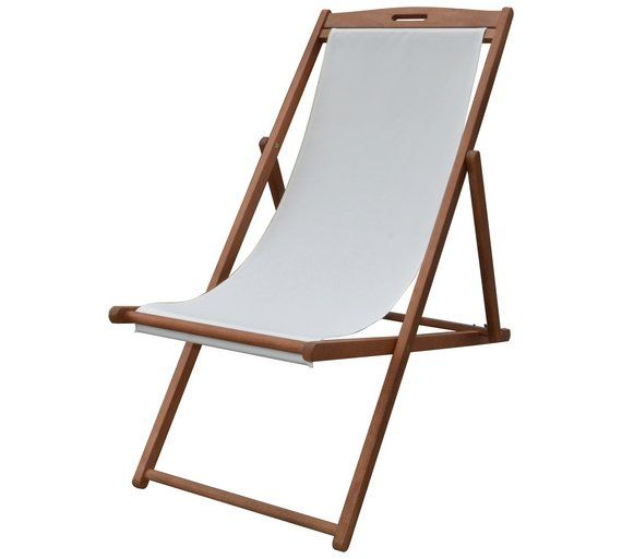 Argos Garden Table And Chairs Sale: Buy Argos Home Deck Chair - Cream
