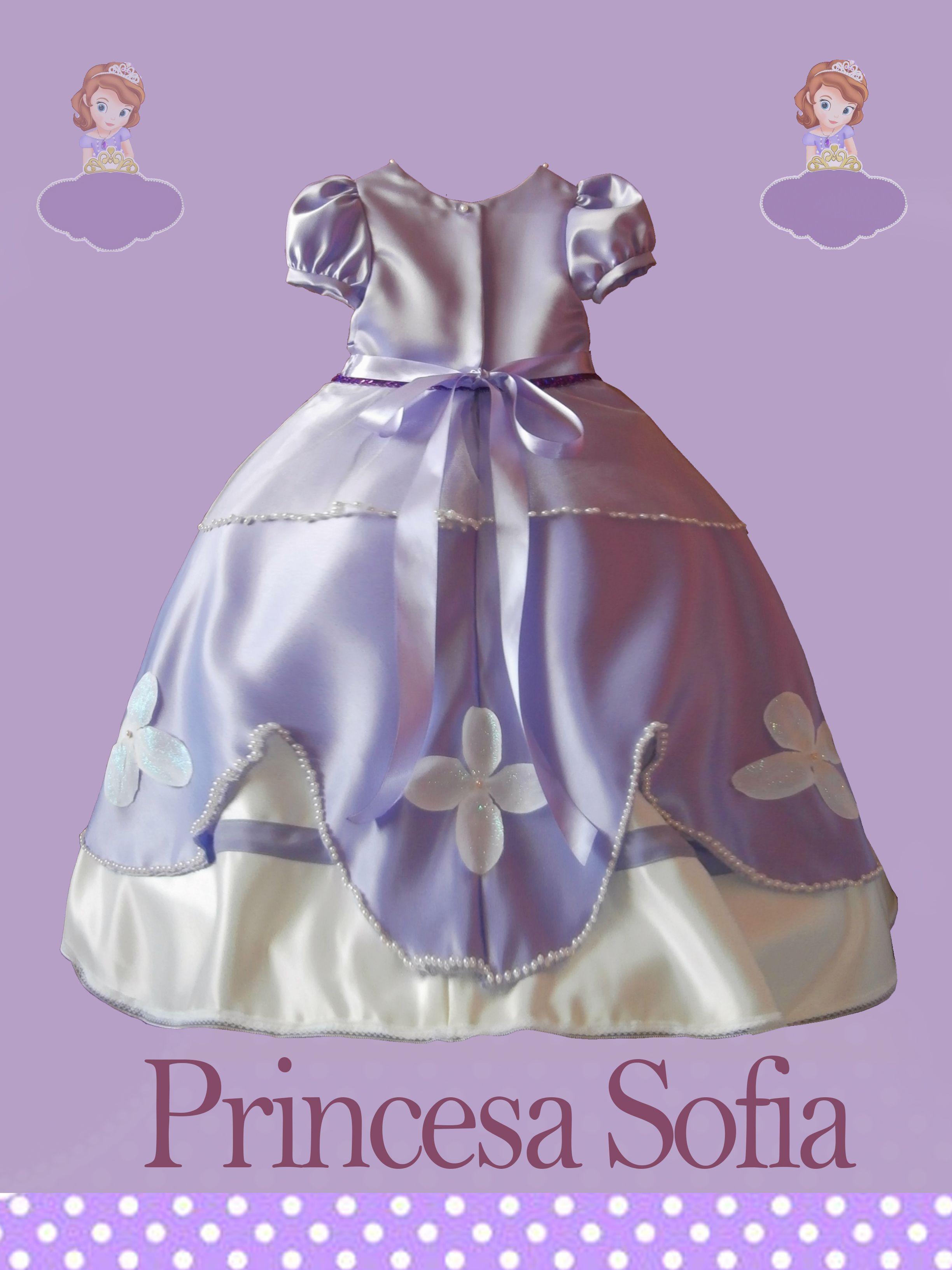 Vestido Princesa Sofia, incluye tiara, diadema, zapatos | GRM07 ...