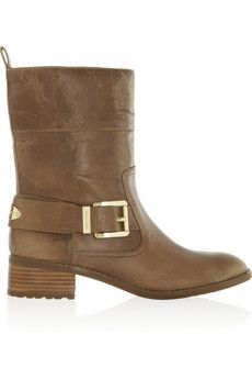 MICHAEL Michael Kors Roswell glossed-leather ankle boots | NET-A-PORTER