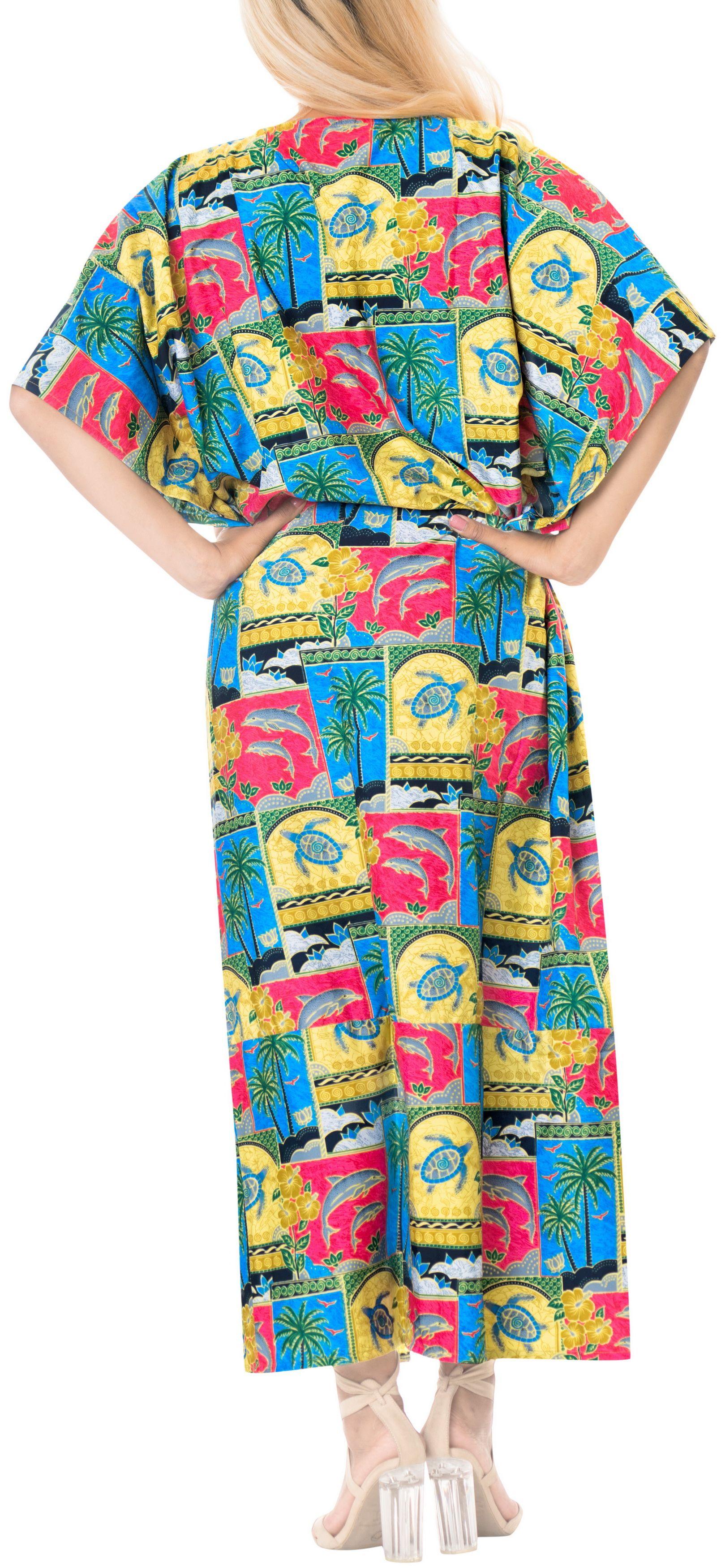 e940daa34b3 Women s Long Caftan dress beach wear Loose Lounger Cover up Night wear  Kimono dress
