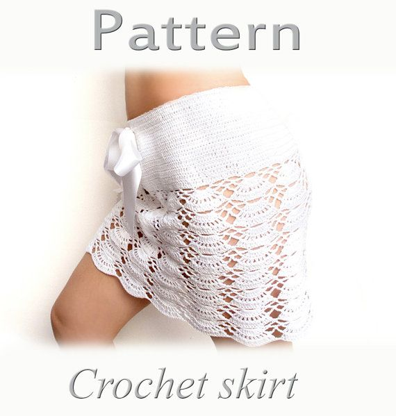Crochet beach skirt PATTERN PDF crochet cover up | Patrones de ...