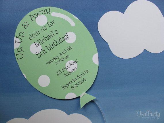 Ballon Geburtstag Party individuelle von TeaPartyDesigns auf Etsy