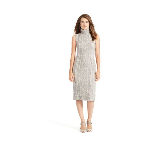 474a6c98ae9 Ralph Lauren Lauren Wool-Cashmere Sweater Dress ( 250) ❤ liked on Polyvore  featuring dresses